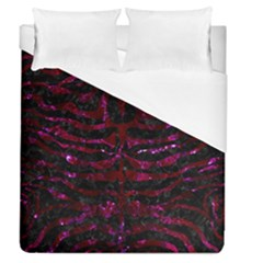 Skin2 Black Marble & Burgundy Marble Duvet Cover (queen Size) by trendistuff