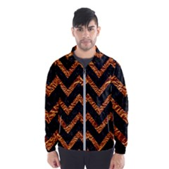 Chevron9 Black Marble & Copper Foil Wind Breaker (men) by trendistuff