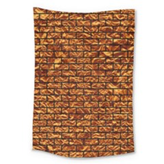 Brick1 Black Marble & Copper Foil (r) Large Tapestry by trendistuff