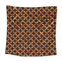Circle3 Black Marble & Copper Foilper Foil Square Tapestry (large) by trendistuff