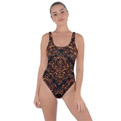 Damask1 Black Marble & Copper Foil Bring Sexy Back Swimsuit by trendistuff