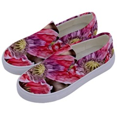Dreamy Floral 5 Kids  Canvas Slip Ons by MoreColorsinLife