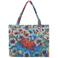 Dreamy Floral 3 Mini Tote Bag by MoreColorsinLife