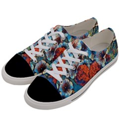 Dreamy Floral 3 Women s Low Top Canvas Sneakers by MoreColorsinLife
