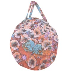 Dreamy Floral 4 Giant Round Zipper Tote by MoreColorsinLife