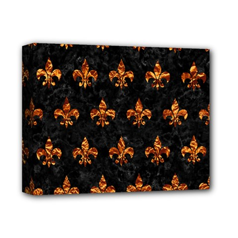 Royal1 Black Marble & Copper Foil (r) Deluxe Canvas 14  X 11  by trendistuff