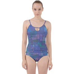 Abstract Art Cut Out Top Tankini Set by ValentinaDesign