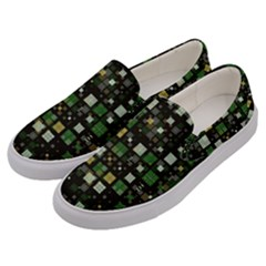 Small Geo Fun C Men s Canvas Slip Ons by MoreColorsinLife