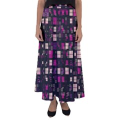 Small Geo Fun D Flared Maxi Skirt by MoreColorsinLife