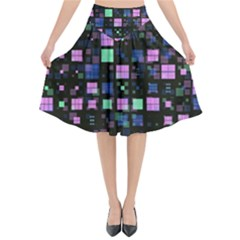 Small Geo Fun B Flared Midi Skirt by MoreColorsinLife