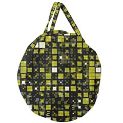Small Geo Fun F Giant Round Zipper Tote by MoreColorsinLife