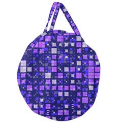 Small Geo Fun E Giant Round Zipper Tote by MoreColorsinLife