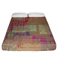 Abstract Art Fitted Sheet (king Size)