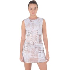 Abstract Art Lace Up Front Bodycon Dress