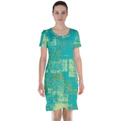 Abstract Art Short Sleeve Nightdress