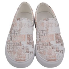 Abstract Art Men s Canvas Slip Ons