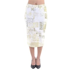 Abstract Art Velvet Midi Pencil Skirt