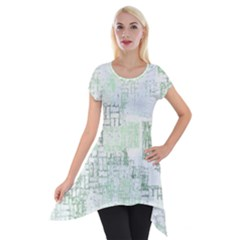 Abstract Art Short Sleeve Side Drop Tunic