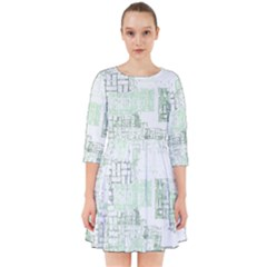 Abstract Art Smock Dress