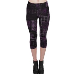 Abstract Art Capri Leggings