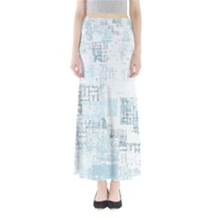 Abstract Art Full Length Maxi Skirt by ValentinaDesign