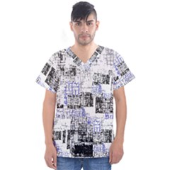 Abstract Art Men s V-neck Scrub Top