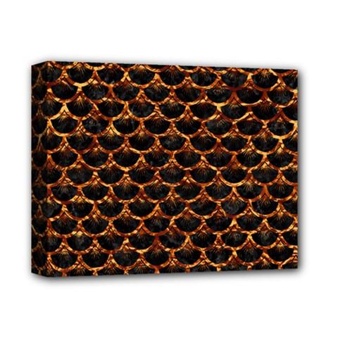 Scales3 Black Marble & Copper Foil Deluxe Canvas 14  X 11  by trendistuff