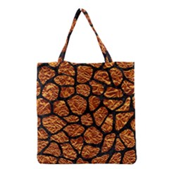 Skin1 Black Marble & Copper Foil Grocery Tote Bag by trendistuff