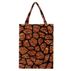 Skin1 Black Marble & Copper Foil Classic Tote Bag by trendistuff