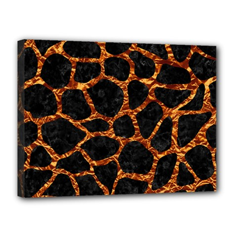 Skin1 Black Marble & Copper Foil (r) Canvas 16  X 12  by trendistuff