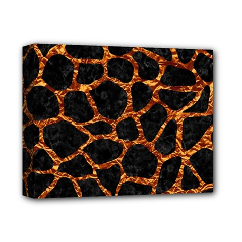Skin1 Black Marble & Copper Foil (r) Deluxe Canvas 14  X 11  by trendistuff
