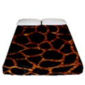 SKIN1 BLACK MARBLE & COPPER FOIL (R) Fitted Sheet (California King Size) View1