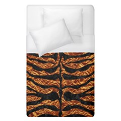 Skin2 Black Marble & Copper Foil (r) Duvet Cover (single Size) by trendistuff