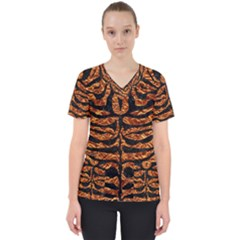 Skin2 Black Marble & Copper Foil (r) Scrub Top by trendistuff