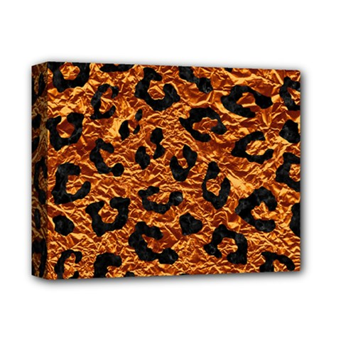 Skin5 Black Marble & Copper Foil Deluxe Canvas 14  X 11  by trendistuff