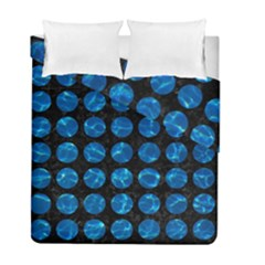 Circles1 Black Marble & Deep Blue Water Duvet Cover Double Side (full/ Double Size) by trendistuff