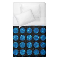 Circles1 Black Marble & Deep Blue Water Duvet Cover (single Size) by trendistuff
