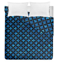 Circles3 Black Marble & Deep Blue Water (r) Duvet Cover Double Side (queen Size) by trendistuff