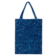 Hexagon1 Black Marble & Deep Blue Water (r) Classic Tote Bag by trendistuff
