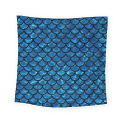 Scales1 Black Marble & Deep Blue Water (r) Square Tapestry (small) by trendistuff