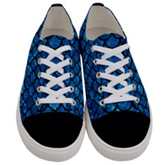 Scales1 Black Marble & Deep Blue Water (r) Women s Low Top Canvas Sneakers