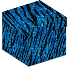 Skin3 Black Marble & Deep Blue Water (r) Storage Stool 12   by trendistuff