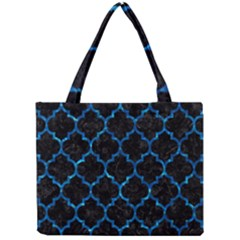 Tile1 Black Marble & Deep Blue Water Mini Tote Bag by trendistuff