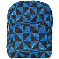 Triangle1 Black Marble & Deep Blue Water Full Print Backpack by trendistuff