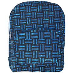 Woven1 Black Marble & Deep Blue Water Full Print Backpack by trendistuff