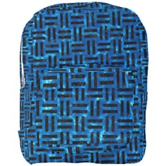 Woven1 Black Marble & Deep Blue Water (r) Full Print Backpack by trendistuff