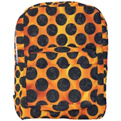 Circles2 Black Marble & Fire (r) Full Print Backpack by trendistuff