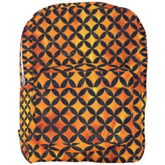 Circles3 Black Marble & Fire (r) Full Print Backpack