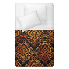 Damask1 Black Marble & Fire Duvet Cover (single Size) by trendistuff