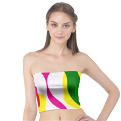 Anatomicalrainbow Wave Chevron Pink Blue Yellow Green Tube Top by Mariart